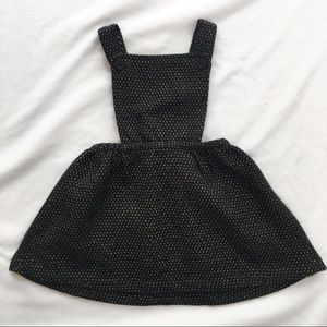 Black & Gold Overall Dress for Baby✨